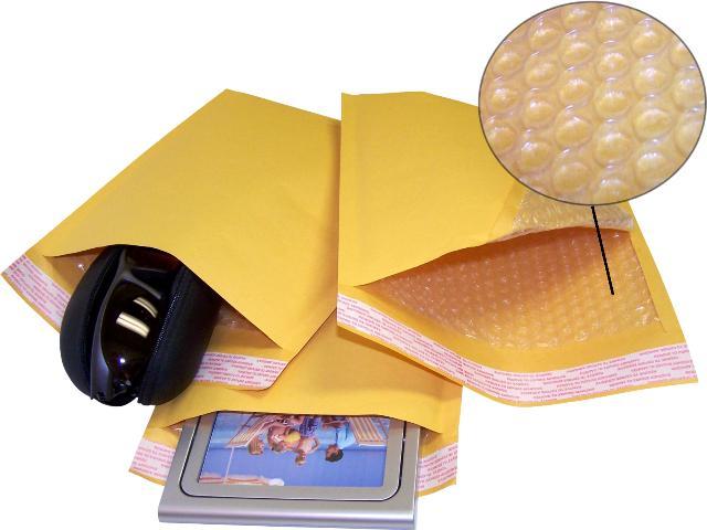 Конверты с пузырчатой плёнкой 240х340 мм. (F/16) коричневые